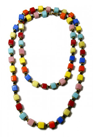 2030005  Celluloid Cube Necklace - Product Image
