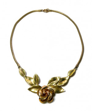 2030023  Krementz Yellow & Rose Gold Filled Necklace - Product Image