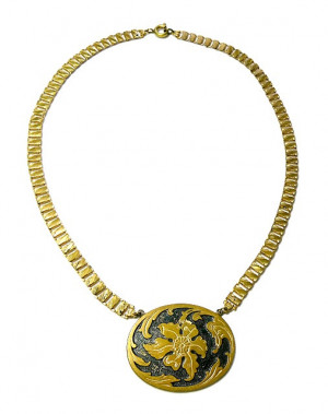 2030025  Repousse Floral Necklace - Product Image