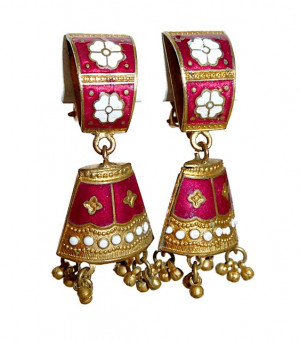 195139  Enamel Bells with Fringe Clips - Product Image