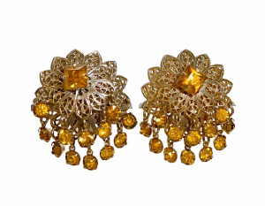 2030061  Topaz Rhinestone Dangle Clips - Product Image