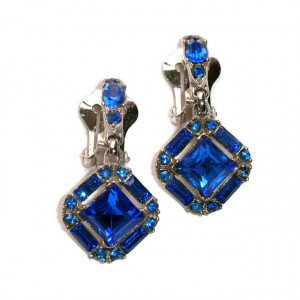 195140  Bogoff Cobalt Blue Dangle Clips - Product Image