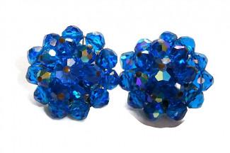 2030072  Laguna Cobalt Blue Crystal Ear Clips - Product Image