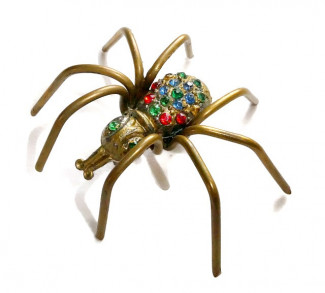 2030075  Dimensional Spider Brooch - Product Image