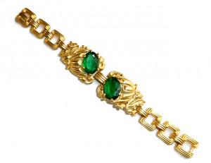 2030082  Green Rhinestone Bracelet - Product Image
