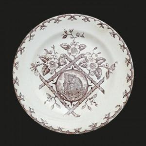 "9130090  W & Co. Hanley ""Alaska"" 8"" Plate - Product Image"