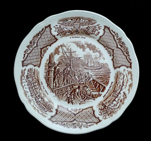 9130095  Meakin Staffordshire Fair Winds Plate - Product Image