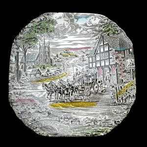 9130092  Enoch Wedgwood Dickens Coaching Days Plate - Product Image