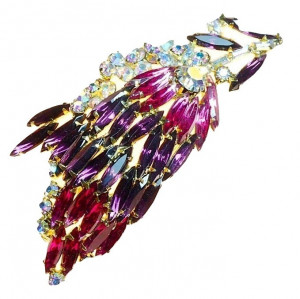 20300107  Caviness Abstract Purple Brooch