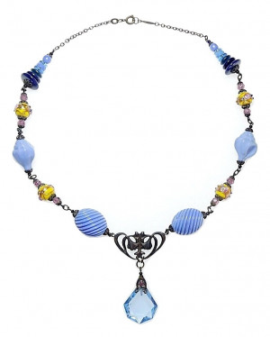 20300119  Antique Czecho Art Deco Necklace - Product Image