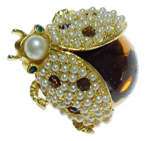 2040030  Hattie Carnegie Bug Pin - Product Image