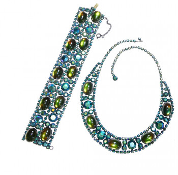 2040038  Alice Caviness Midnight Blue AB Necklace Bracelet Set - Product Image