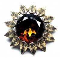 195030  Emmons Dark Citrine Sunflower
