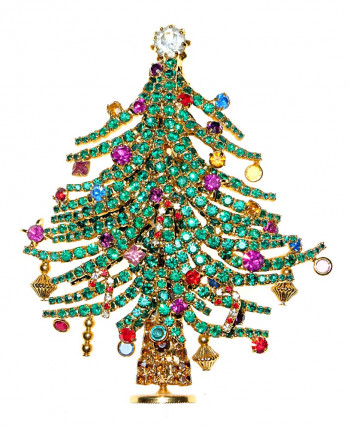 2040044  Dorothy Bauer Ltd Edition Xmas Tree Brooch - Product Image