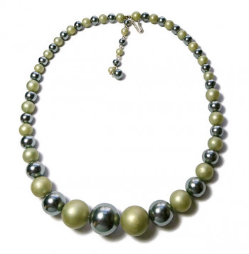 2030016  Graduating Green Bead Necklace - Product Image