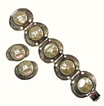 2040061  Sea Inspired Bracelet & Earring Set - Product Image